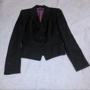 Tahari Dark Gray (almost black) & Pink Blazer
